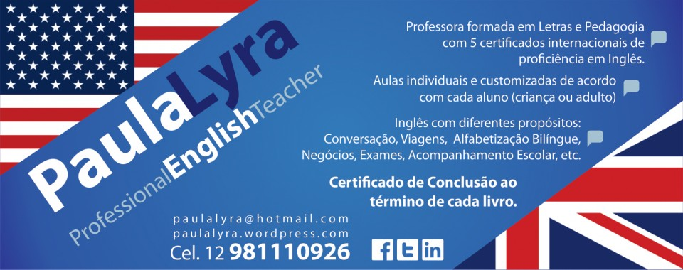 Aulas Particulares de Inglês para 2014